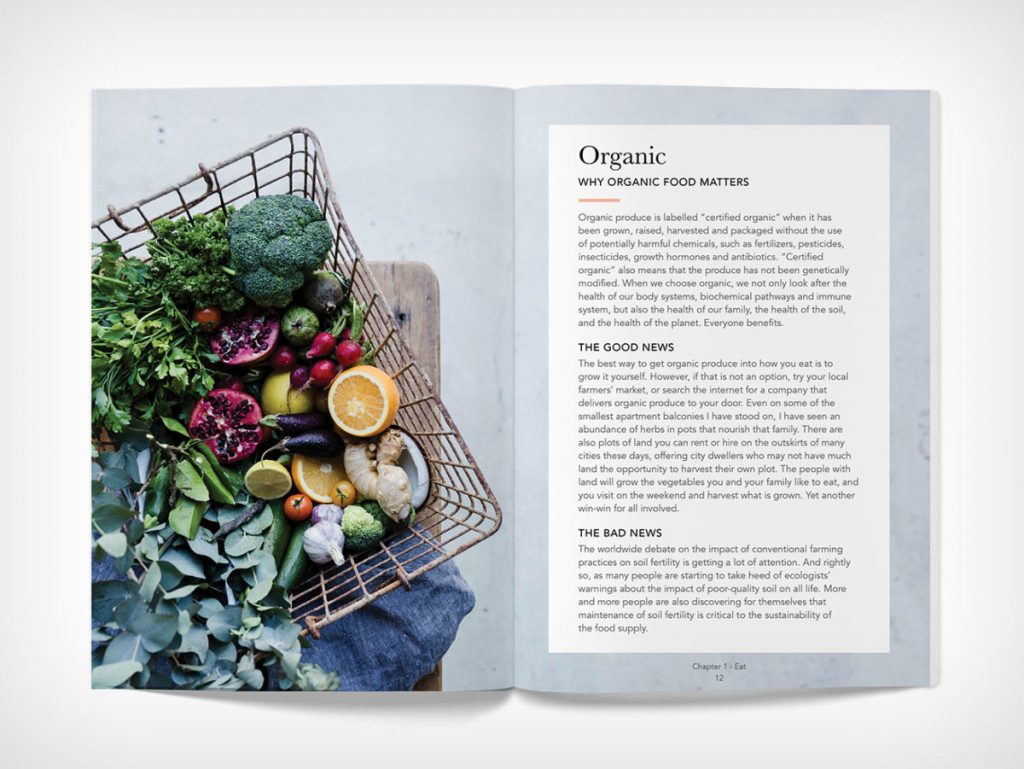 Book opened to Why Organic Food Matters