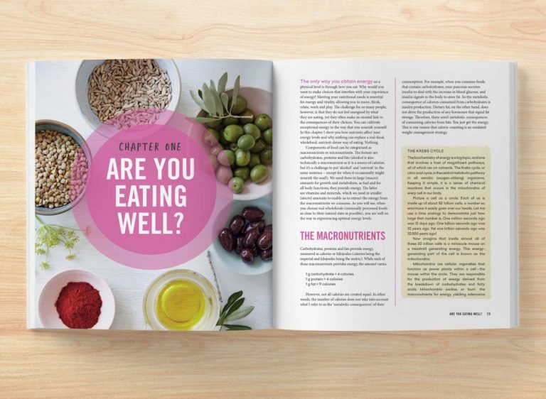 Book open to chapter one: Are You Eating Well?