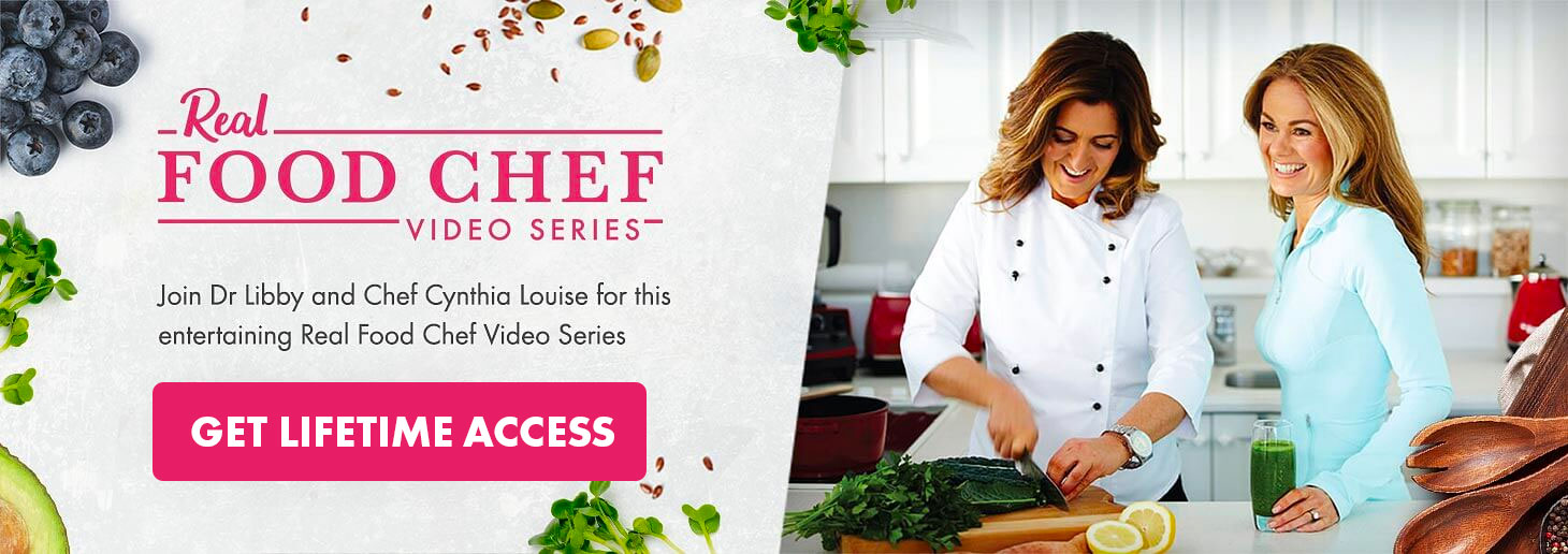 Real Food Chef Video Series - Lifetime access to 90+ delicious recipes. Click here!